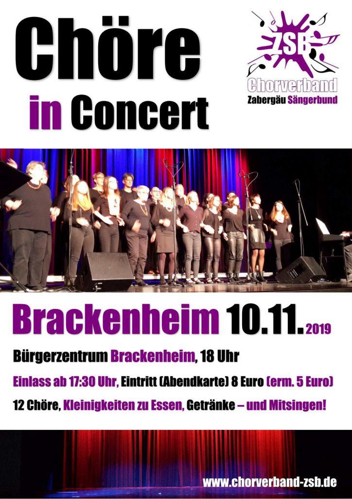 Chöre in Concert 2019 @ Bürgerzentrum Brackenheim
